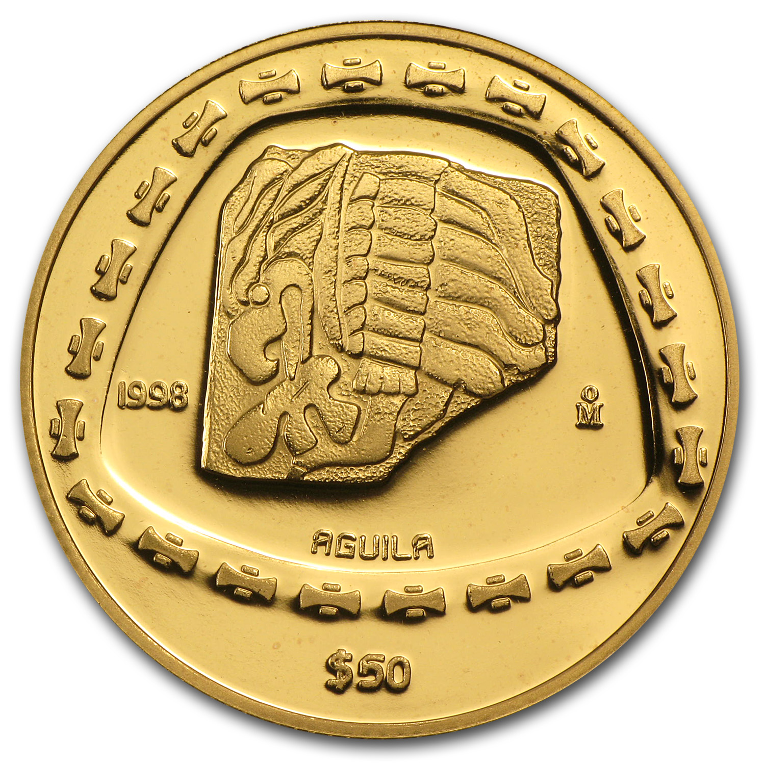1998 Mexico 50 Pesos Gold Proof Aguila